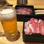 しゃぶ菜 - ビールと豚肉と鶏つみれ