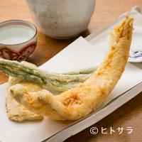 江戸蕎麦ほそ川 - 対馬産の『穴子天』