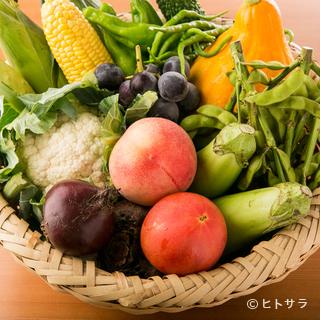 奈良と栃木から仕入れる、鮮度の高い野菜