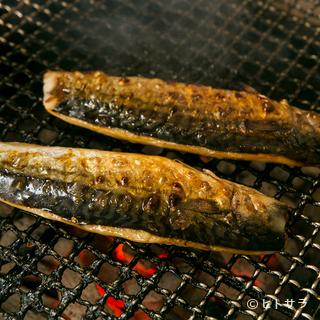 完全無添加でつくられた、越田商店の干物「もの凄い鯖」を使用
