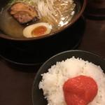 つるる - 料理写真:明太ご飯セット(2017.09現在)