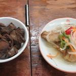 はらぐち酒店 - 鶏肝煮と鯵南蛮漬