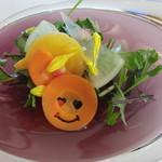 プレゼンテ スギ - ほとんどが自家製野菜のサラダ