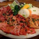ぎゅう牛 - ぎゅう牛ロース ぎゅう牛カルビ 焼野菜 若鶏セセリ