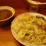 自家製太麺 ドカ盛 マッチョ - つけそば 並(野菜チョイまし)