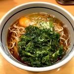 吉そば - 春菊天そば(390円)+玉子(70円)