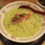 麺や 七彩 - だだちゃ豆の冷やし麺 1000円