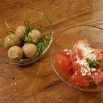 温野菜 - 料理写真:うずらの味玉・トマトのイタリアンサラダ