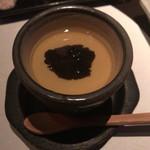 やき肉 かのや - フォワグラ茶碗蒸しトリュフ乗せ