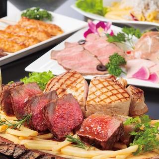 1日3組限定!肉バルコース2ポンドのステーキと飲み放題付き☆