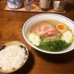 Cafe 結+1 - 料理写真:チーズSOBA(ハーフライス付) ¥900-