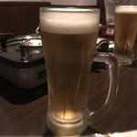 いけだや - 生ビール(中)アサヒスーパードライ