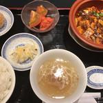 中国酒家 獅子房 - 料理写真:四川麻婆豆腐セット\1080(17-09)