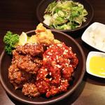 韓国家庭料理 イタロー - 3点盛りチキン