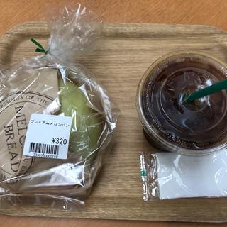はなもも - 料理写真:メロンパンとアイスコーヒー
