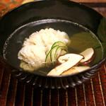 竹屋町 三多 - 鱧と松茸のお椀 柚子の香りで