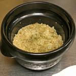 竹屋町 三多 - 牛蒡とお揚げと粉山椒の炊き込みご飯