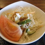 蒸し釜や - 五目海鮮丼(サラダ)
