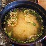 蒸し釜や - 五目海鮮丼(味噌汁)