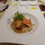 ビストロ ダイア - 金目鯛のソテー、タラの白子のカダイフ巻揚げ、ゴルゴンゾーラソース