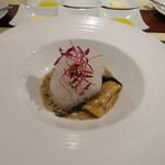 ビストロ ダイア - 杏子茸とトランペット茸のフリカッセと帆立のラビオリ、ポルチーニソース
