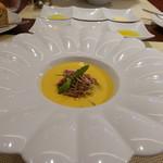 72976795 - 鶏のパルティーヌとかぼちゃのスープ