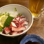 えいちゃん - 蛸の湯がいたもの。