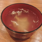和ガリコ - セットのスープ