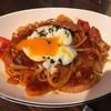 生パスタ&ピッツア カフェ食堂 スパッツァ - 料理写真:最後まできのこの存在が認められなかったソーセージときのこのスパッツァナポリタンw