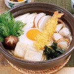 むぎの里 - 鍋焼きうどん960円(1.036円)