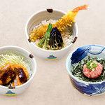 むぎの里 - ミニ丼各種300円(税込324円)