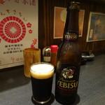 うな鐵 - 黒ビール440円