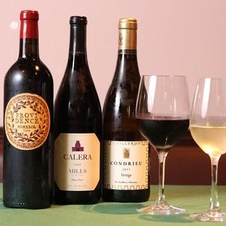 料理との相性やバランスを考えたワインを厳選してご用意