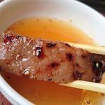 京都焼肉 南大門 - 洗いダレでいただきます♪