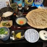 あずみの庵 - 熟成十割蕎麦と土鍋ご飯のオレンジ有精卵コク旨卵かけご飯セット780円
