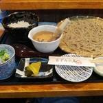 あずみの庵 - 熟成十割蕎麦と大和いもの穴子山掛け丼セット 864円