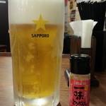 楽楽一番 - 料理写真:青島ビール通常450円が半額230円