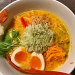 ソラノイロ Japanese soup noodle free style - 特ベジそば 1100円