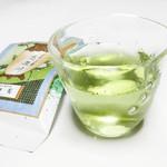 柳桜園茶舗 - 水出し玉露。グラスは和食店 竹ざきや木山でも愛用の高臣大介さん