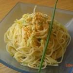 ペッコリーノ - からすみと九条葱の冷製フェデリーニ