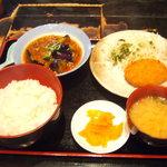炙り焼 はる田 - 日替わりランチ 600円 (この日は麻婆茄子)
