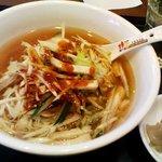 桂園 - 「ねぎチャーシュー辛麺」750円也。税込。★2.9