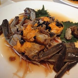 酔蟹は、上海蟹の老酒漬け。通称酔っぱらい蟹。