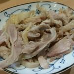 73002123 - 「肉そば」の鶏肉は、別盛り。