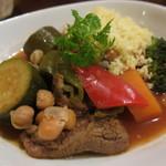 マイヨジョーヌ - 仔羊と野菜のクスクス