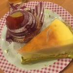 不二家レストラン - 紫いものモンブラン、北海道なめらかチーズケーキ