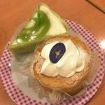 不二家レストラン - 宇治抹茶のケーキ、シフォン主義