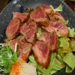魚菜 - 料理写真:能登牛のたたき。