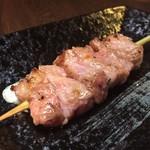 串焼き 一心 - はらみ串 柔らかく赤肉の旨みがひろがります。