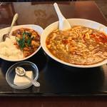 73009687 - スーラー湯麺+半マーボー豆腐丼!